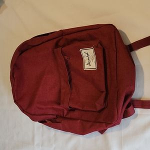 Herschel wine colored full size backpack